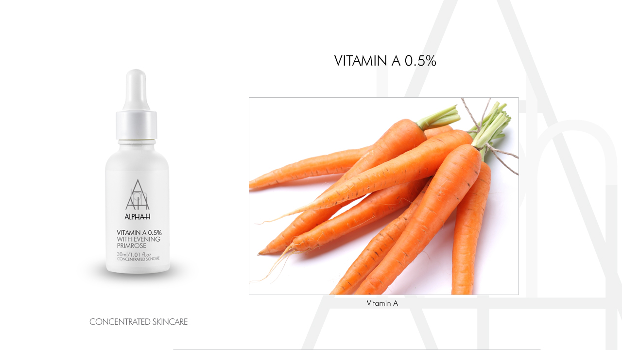 Carrots Vit A beauty product